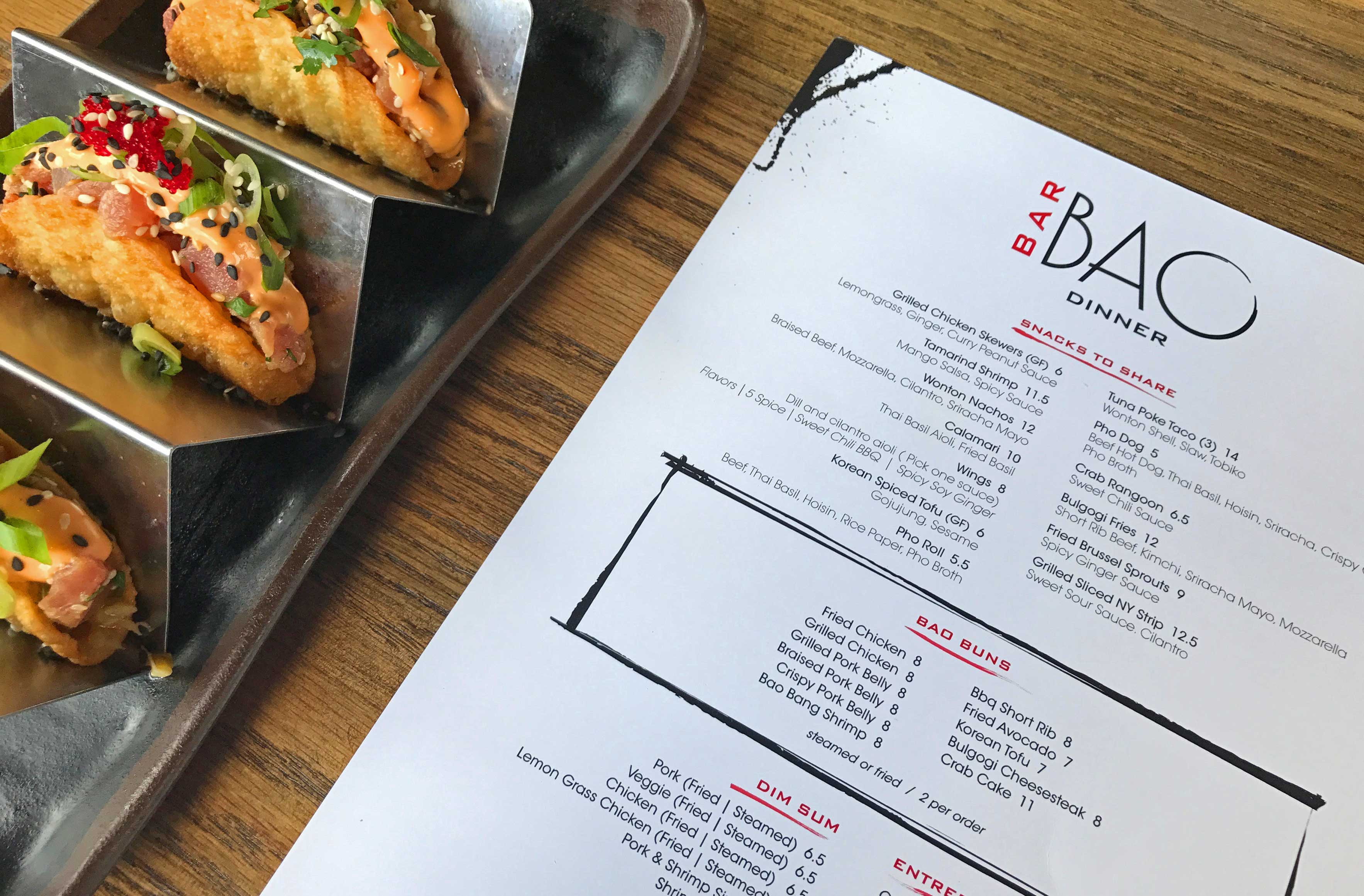 bar bao menu