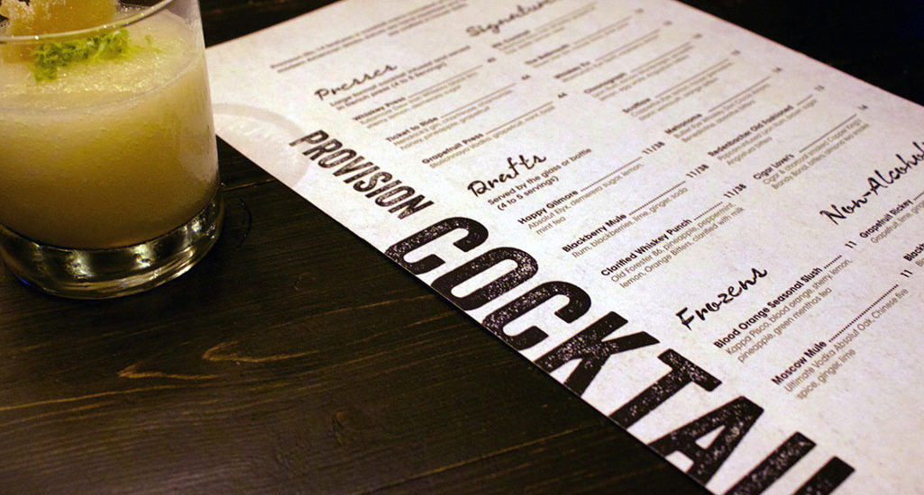 provisions menu image