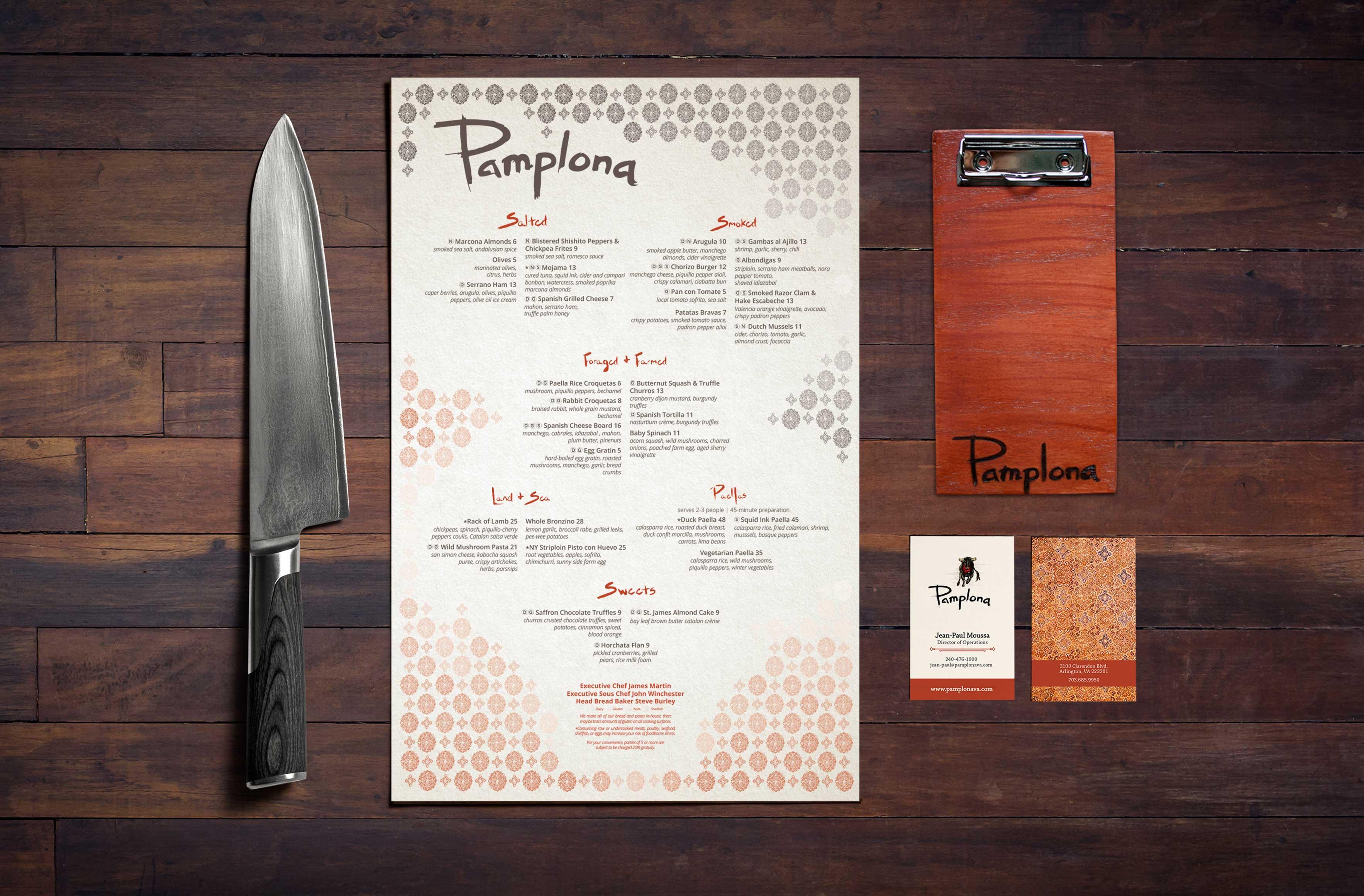 pamplona menu