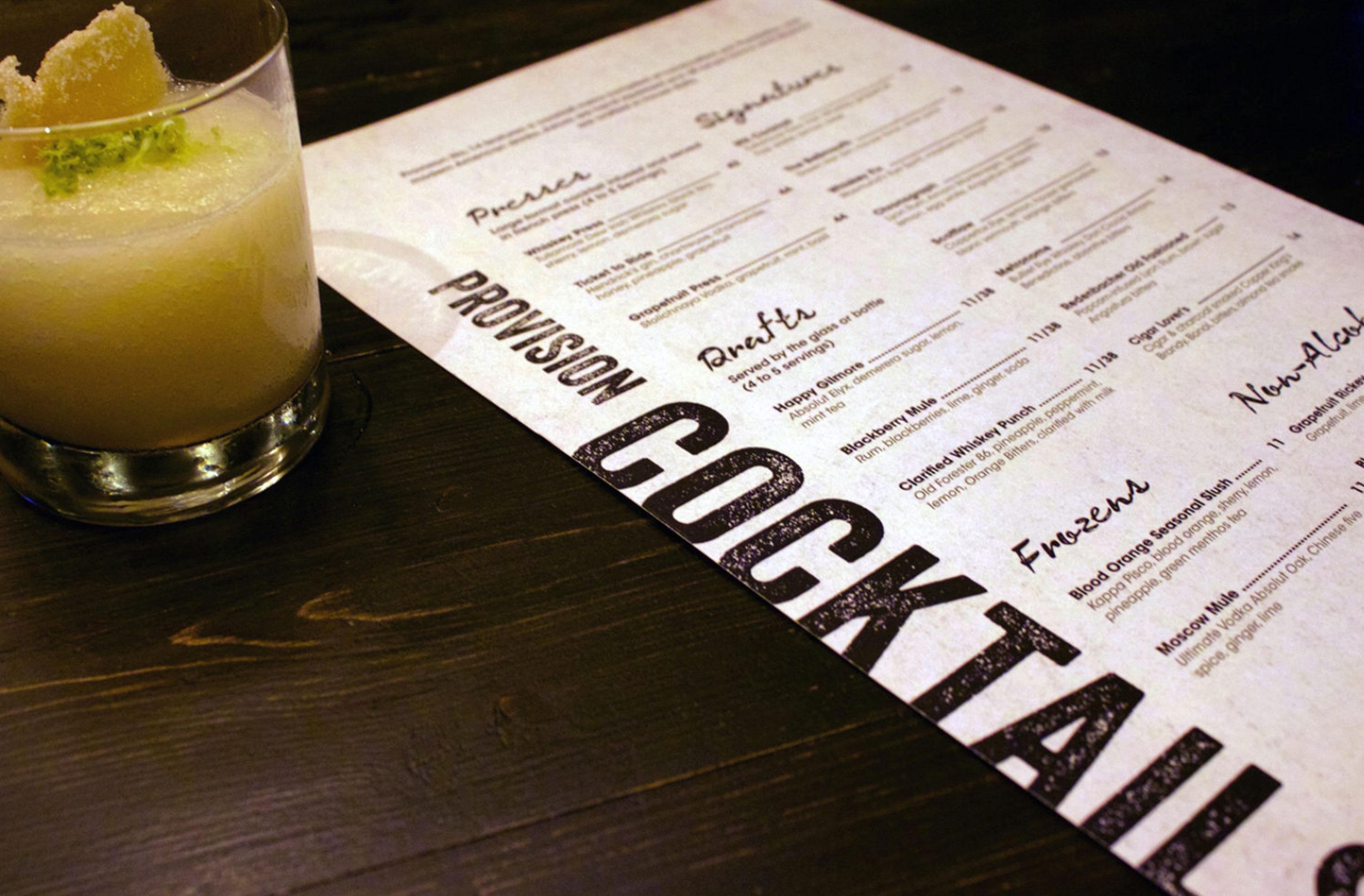 provision cocktails