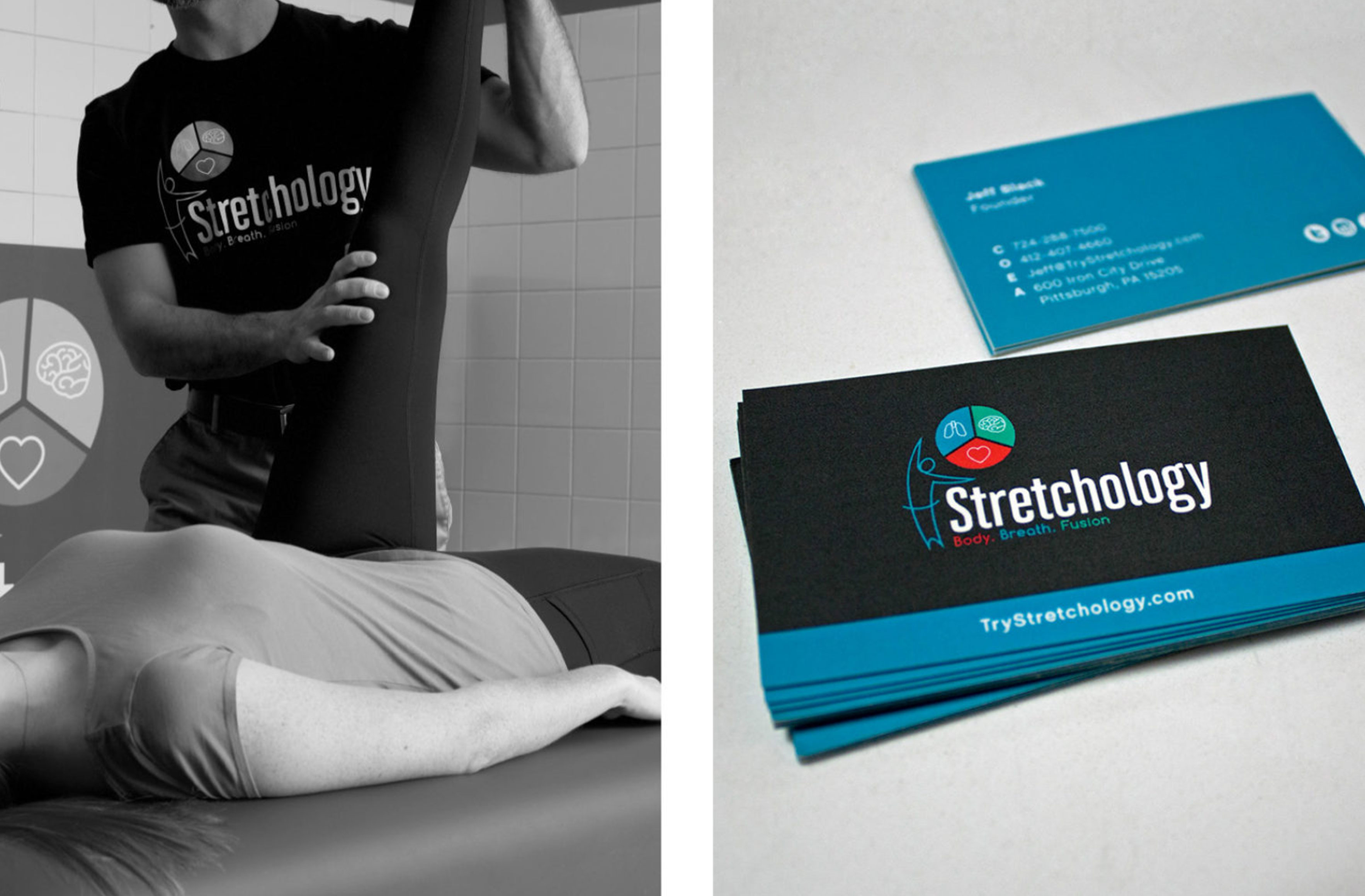 stretchology business card