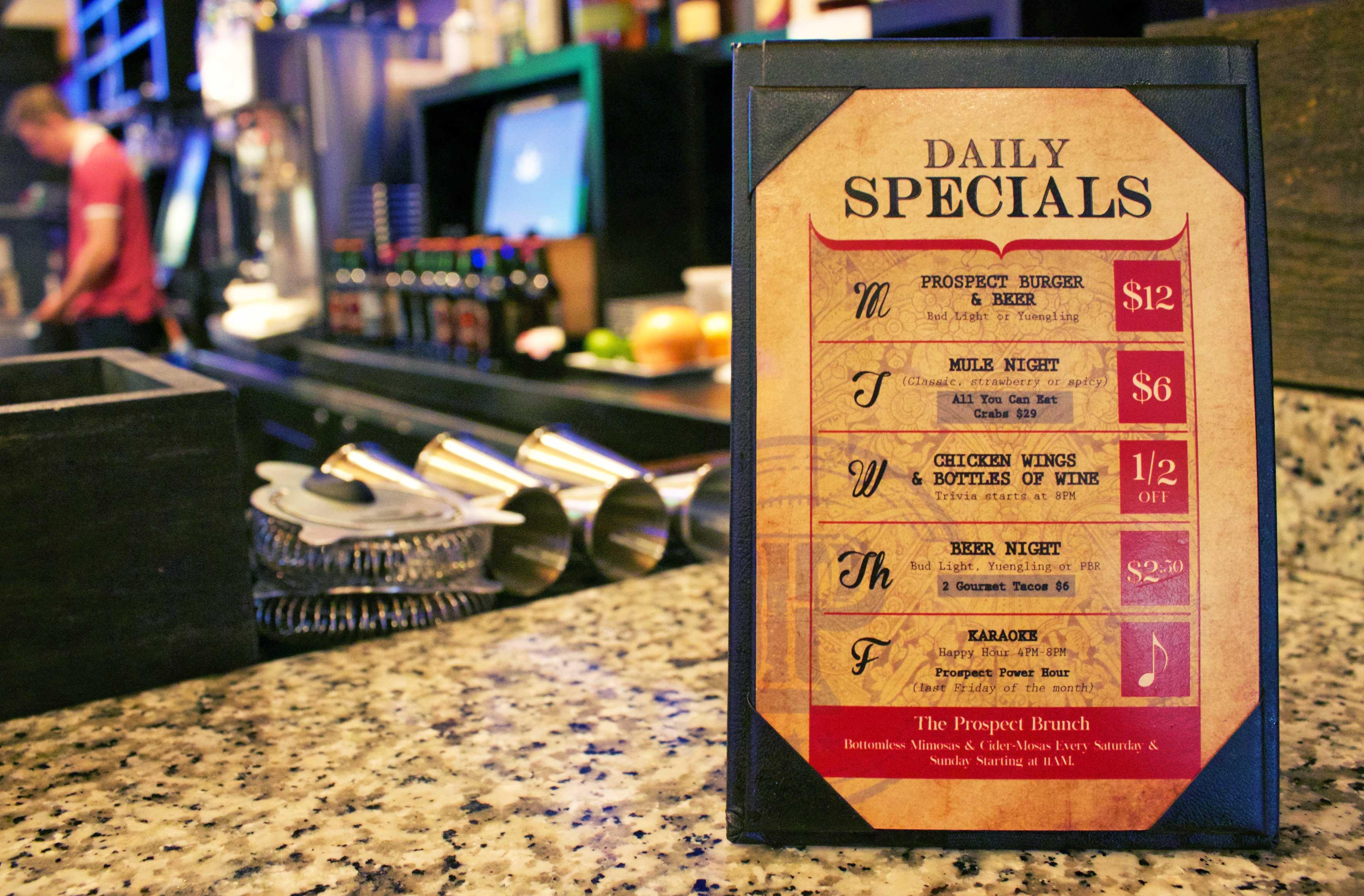 prospect brunch menu
